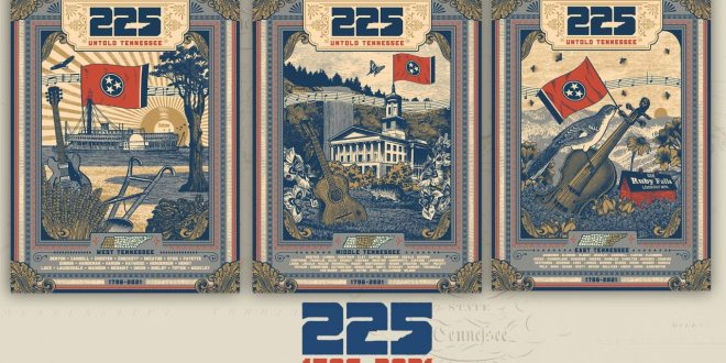 Posters unveiled for Tennessee's 225th anniversary